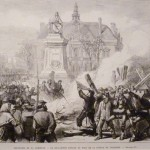 Commune de Paris : la guillotine brûlée