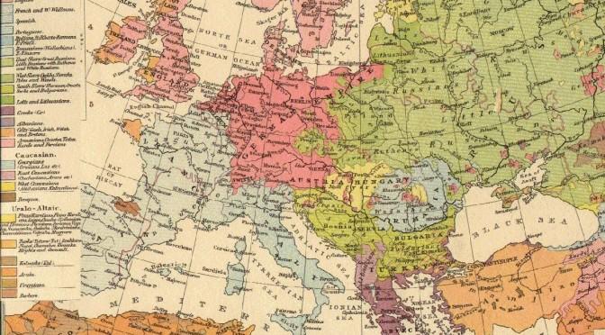 """""""L'Europe des peuples établis"""" (1896) source : wikipedia."""